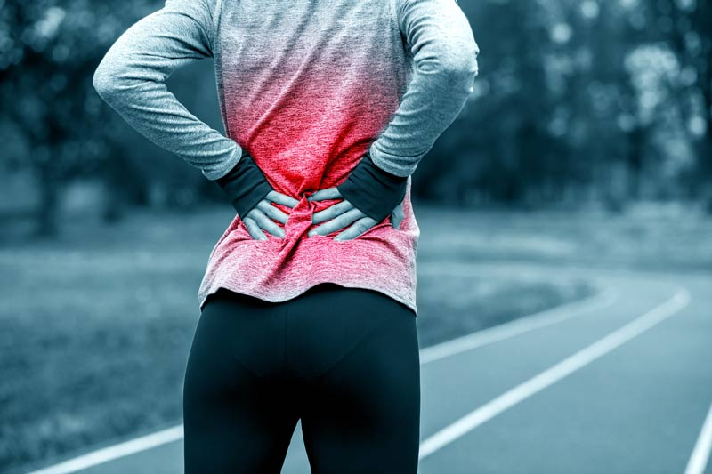 Enjoying fitness but experiencing back pain